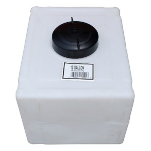 12 Gallon Rectangular Total Drain Tank